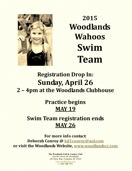 2015 Swim Team Flyer